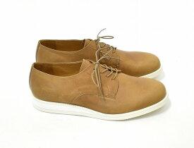 【新品同様】 ARCOLLETTA PADRONE(アルコレッタパドローネ) DERBY PLAIN TOE SHOES ダービープレーントゥシューズ レザーシューズ 革靴 42 BEIGE MADE IN JAPAN 【中古】