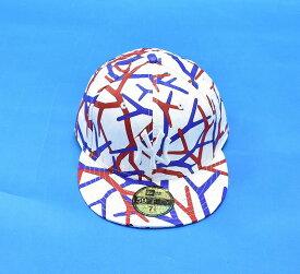【中古】 PHENOMENON (フェノメノン) NEW ERA BLOODY CAP ニューエラブラッディ—キャップ XL 7 5/8 60.6cm WHITE×RED×BLUE 59FIFTY B.B CAP BB CAP ベースボールキャップ GENUINE MERCHANDISE 6PANEL 6パネル 帽子 NEWERA NY ニューヨークヤンキース