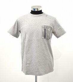 【新品】 HABANOS (ハバノス)MILITARY CAMO-POCKET S/SL Tee 杢 Gray ミリタリーカモ ポケットTシャツ 半袖T-SHIRT ポケTEE S/S T-SHIRT MADE IN JAPAN M HBNS