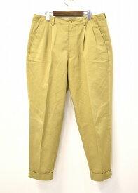 【中古】 SCYE (サイ) Sanjoaquin Chino 2Pleats Tapered Trousers サンホアキンチノ2プリーツテーパードトラウザーズ 38 BEIGE 19SS 5119-81516 PANTS チノパンツ