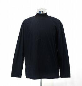 【中古】 LEMAIRE (ルメール) LONG SLEEVED TEE SHIRT コットンポプリン 長袖シャツ ロンT 48 MIDNIGHT BLUE 18SS M181 TO116 LF213