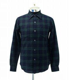 【中古】 SWAGGER (スワッガー) CHECK SHIRT チェックシャツ M BLACKWATCH L/S ロングスリーブ 長袖