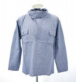 【新品】 HEALTH (ヘルス) NEW NECK SHIRT ニューネック ストライプシャツ BLUE STRIPE S 変形ネックシャツ