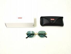 【中古】 SUPREME (シュプリーム) River Sunglasses リバー サングラス GREEN×GOLD 19SS 眼鏡 メガネ LOGO ロゴ MADE IN ITALY イタリア製