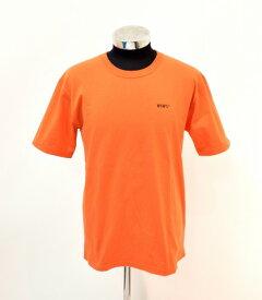 【中古】 WTAPS (ダブルタップス) WUT TEE プリントTシャツ 2 ORANGE 18AW 182PCDT-ST08S ロゴ 半袖 クルーネック URBAN TERRITORY MADE IN JAPAN 日本製
