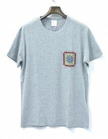 【新品】 Mr.GENTLEMAN (ミスタージェントルマン) EMBROIDERED POCKET TEE エンブロイド ポケットTシャツ S/S T-SHIRT 刺繍 クルーネックT GREY S MADE IN JAPAN