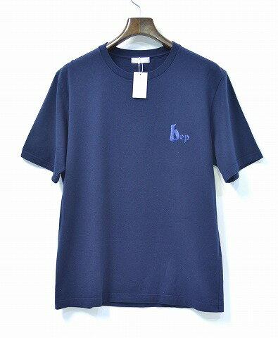 【新品】THE BLACK EYE PATCH (ザ・ブラックアイパッチ) BEP TEE LOGO ロゴ刺繍Tシャツ 16SS-BEP-CU006 L NAVY クルーネックT-SHIRTS S/S ロゴ ザ・ブラック・アイ・パッチ