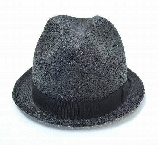 【中古】 SWAGGER (スワッガー) STRAW HAT ストローハット BLACK M 中折れハット 麦わら帽子 グラスハット