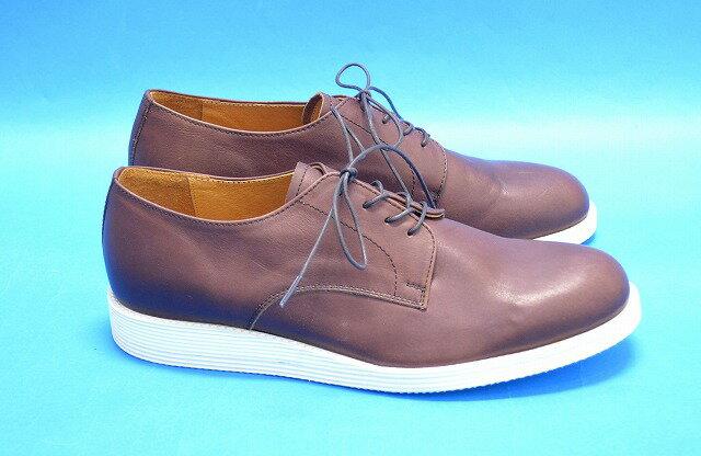 【新品同様】 ARCOLLETTA PADRONE(アルコレッタパドローネ) DERBY PLAIN TOE SHOES ダービープレーントゥシューズ レザーシューズ 革靴 42 BROWN MADE IN JAPAN 【中古】