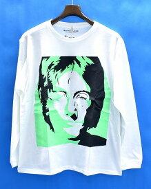【新品】 FROM THE GARRET (フロムザギャレット) KURRY FACE LS TEE PEACE カリー フェイス 長袖Tシャツ ロンT-SHIRT / John Lennon × Yoko Ono [FTG1502-CS03] WHITE M  コラボ ピース ジョンレノン オノヨーコ