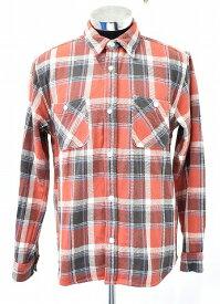 【中古】 FIVE BROTHER (ファイブブラザー) 151860 Heavy Flannel Work Shirt Check ヘビーフランネルチェック柄ワークシャツ L/S 長袖シャツ RED XL ネルシャツ