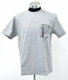 【新品】 HABANOS (ハバノス)MILITARY CAMO-POCKET S/SL Tee 杢 Gray ミリタリーカモ ポケットTシャツ 半袖T-SHIRT ポケTEE S/S T-SHIRT MADE IN JAPAN XL HBNS