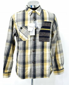 【新品】 MANASTASH(マナスタッシュ)Crazy Lumber 2 CHECK L/S SHIRT JACKET 715011 クレイジー ヘンプチェック長袖シャツ ネルシャツ ジャケット BEIGE L