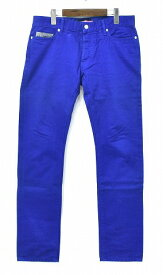 【中古】 SWAGGER(スワッガー) COLOR DENIM PANTS カラーデニムパンツ 5ポケットパンツ ジーンズ ROYAL BLUE 青 28 【訳あり】