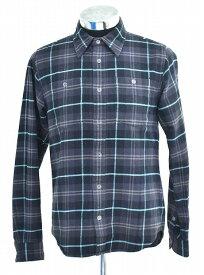 【中古】 SWAGGER (スワッガー) CHECK NELL SHIRT チェックネルシャツ L/S ロングスリーブ 長袖シャツBLACK M