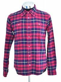 【中古】 SWAGGER (スワッガー) CHECK NELL SHIRT チェックネルシャツ L/S ロングスリーブ 長袖シャツ RED M