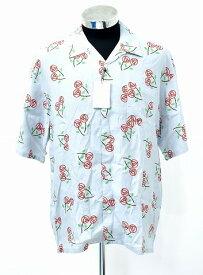 【新品】 Discovered (ディスカバード)Rose print shirt ローズプリントシャツ S/S 半袖レーヨンシャツ アロハシャツ GRAY 3