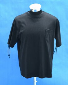 【新品】 Burnout (バーンアウト) FLINGE BIG T-SHIRT 半袖 クルーネックTシャツ S/S TEE フリンジビッグTEE BLACK M ポケットTシャツ ポケTEE