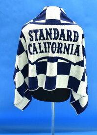 【新品】 STANDARD CALIFORNIA (スタンダードカリフォルニア) SD Shield Logo Checker Imabari Towel シールドロゴ チェッカー 今治 タオル イマバリバスタオル コラボ NAVY