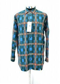 【新品】 FACETASM (ファセッタズム) CHECK BIG SHIRT チェックビッグシャツ 長袖シャツ ネルシャツ ロングシャツ GREEN PIPPA-SH-M03 4