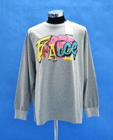 【新品】 FACETASM (ファセッタズム)FACE LONG TEE フェイスロングTシャツ L/S 長袖カットソー プリント クルーネック ロゴ LOGO GRAY 5 MADE IN JAPAN