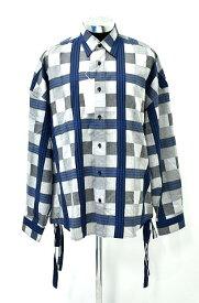 【新品】 FACETASM (ファセッタズム) CHECK SHIRT チェックシャツ 長袖シャツ GRAY YA-SH-U08 00