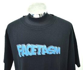 【新品】 FACETASM (ファセッタズム) BIG TEE LOGO ビッグTシャツ ロゴ クルーネック プリント T-SHIRT PIPPA-TEE-U06 MADE IN JAPAN BLACK 5