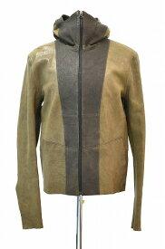 【中古】ODYN VOVK(オーディブック)Hoodie Leather Jacket S フードレザージャケット ブルゾン