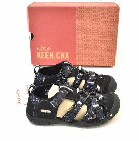 【新品】 KEEN×THE PARK SHOP (キーン×パークショップ) Seacamp II CNX シーキャンプ US1 20cm BLACK 2 コラボレーション サンダル 靴 シューズ  YOUTH