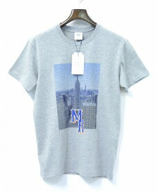 【新品】 Mr.GENTLEMAN (ミスタージェントルマン) MANHATTAN TEE マンハッタンTシャツ M GREY 半袖TEE クルーネック プリント PRINT S/S T-SHIRT MGI-TE07