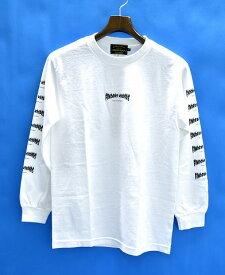 【新品】 Finders Keepers (ファインダーズキーパーズ)FK-LOGO TEE L/S (40711201)クルーネック長袖Tシャツ ロゴプリントT-SHIRT ロンTEE ファイヤーロゴ フレイム FLAME フレーム MADE IN JAPAN WHITE&BLACK SMALL