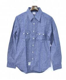 【新品】 BLUE BLUE (ブルーブルー) DENIM WESTERN SHIRT シャンブレー デニムウエスタンシャツ BLUE 1 H.R.MARKET