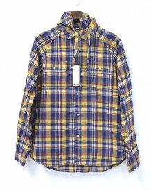 【新品】 PREDAWN (プリドーン)HOODED FLANNEL SHIRT フーデッドフランネルシャツ チェックフードつきシャツ YELLOW CHECK M