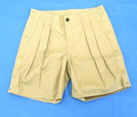 【新品】HABANOS (ハバノス)B.B WIDE CHINO SHORT バスケットボール ワイドチノショーツ プリーツチノパン タック ハーフパンツ ショートパンツ 短パン BEIGE PANTS XL HBNS
