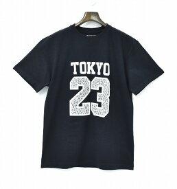 【中古】 TOKYO 23 (トーキョー23)ELEPHANT 23 TEE エレファント23Tシャツ 半袖ナンバリングT-SHIRT クルーネック セメント 東京23 BLACK L  kinetics JORDAN
