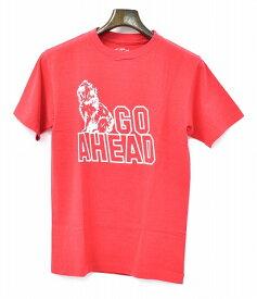 【新品】 STANDARD CALIFORNIA (スタンダードカリフォルニア) SD GO AHEAD TEE ゴーアヘッドTシャツ クルーネック プリントTシャツ 半袖Tシャツ T-SHIRT TEE RED SMALL S スタカリ MADE IN JAPAN エスディー