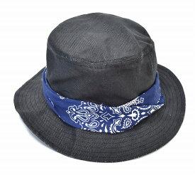 【新品】 BLACK EYE PATCH (ブラックアイパッチ) Paper Cloth Hat ペーパークロスハット BLACK/NAVY FREE 帽子 BANDANA