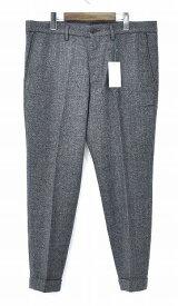 【新品】 Mr.GENTLEMAN (ミスタージェントルマン) MG-TR04 WOOL PANTS TWEED DARK GREY ウールパンツ 9分丈パンツ スラックス クロップド 丈 MADE IN JAPAN XL MISTERGENTLEMAN
