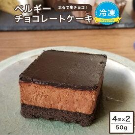 スイーツ 濃厚ベルギーチョコレートケーキ 50g/個×4個入×2ケース 冷凍ケーキ チョコレートケーキ チョコケーキ ベルギー チョコ グルメ ケーキ デザート ベルギーチョコレート