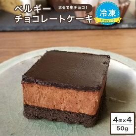 スイーツ 濃厚ベルギーチョコレートケーキ 50g/個×4個入×4ケース 冷凍ケーキ チョコレートケーキ チョコケーキ ベルギー チョコ グルメ ケーキ デザート ベルギーチョコレート