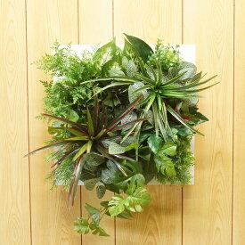 壁掛けグリーンフレーム(造花・フェイク)事務所 店舗 看板・フェイクグリーン・人工観葉植物
