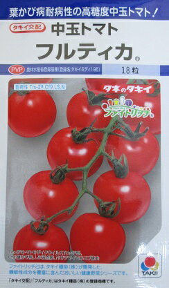 中玉トマト種 タキイ交配 フルティカ タキイ種苗の中玉トマト品種です。タネのことならお任せグリーンデポ