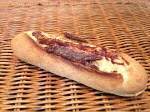 【チョコフランス】チョコクリームをたっぷり塗ったミニサイズのフランスパン
