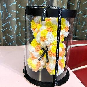 バラ(フェイク) クマ ベア 送料無料 かわいい プレゼント 置物 オブジェ インテリア