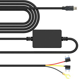 JADOドライブレコーダー用 純正降圧電源ケーブル 駐車監視 Mini USB電源直結コード 12V/24Vを5V/1.5Aに変換用コンバーター 電圧保護 過電流保護
