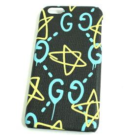 【中古】極美品◆GUCCI グッチ iPhone6PLUS/6sPLUS GGゴースト アイフォンケース/スマホケース ブラック×ブルー×イエロー イタリア製
