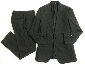 【中古】極美品◎ドルチェ&ガッバーナ 黒タグ SICILIA チェック柄 シングルスーツ 44 チャコールグレー 正規品 イタリア製 カジュアル◎