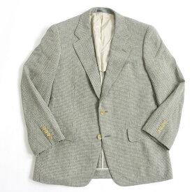 【中古】美品◎バーバリーロンドン PRESTIGE COLLECTION 織柄 シルク混 シングルジャケット ミックスカラー 90-78-165 A4 正規品 日本製