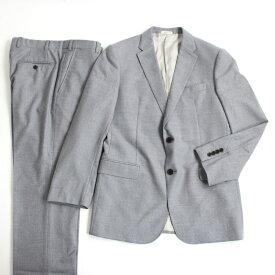 【中古】美品□15年製 アルマーニコレツィオーニ M LINE シングルスーツ 上下セット 48 ライトグレー 正規品 ビジネスオススメ メンズ