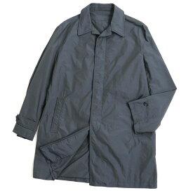 【中古】極美品◆dunhill ダンヒル 比翼仕立て チェック柄 ステンカラーコート グレー系 M(S fit) 正規品 ポルトガル製 メンズ
